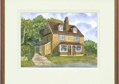April Cottage - Wood & Gilt Framed Pic