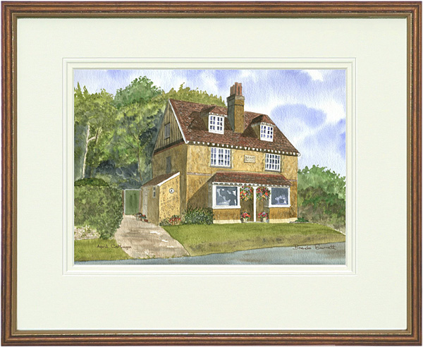 April Cottage - Wood & Gilt Framed Pic