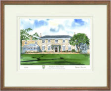 Broadwater Manor - Wood & Gilt Framed Pic