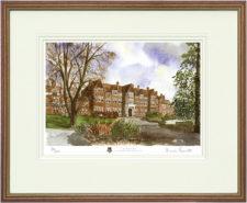 Caterham School - Wood & Gilt Framed Pic
