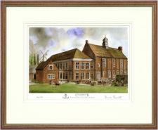 Cranbrook School Rear - 2001 - Wood & Gilt Framed Pic