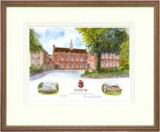 Cranbrook School - Wood & Gilt Framed Pic