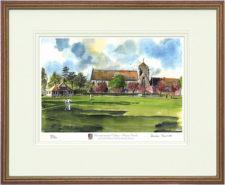Hurstpierpoint Cricket - Wood & Gilt Framed Pic