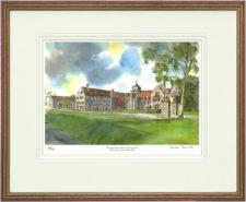 Hurstpierpoint Gates - Wood & Gilt Framed Pic