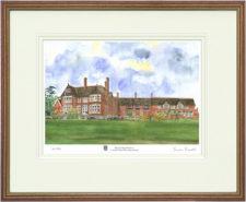 Kent College - Wood & Gilt Framed Pic
