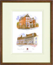 Lewes - Wood & Gilt Framed Pic