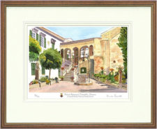 Palacio Episcopale - A4 Print in Mount and Frame