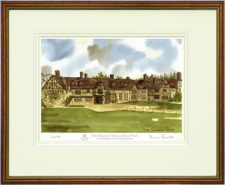 Stoke Brunswick Front - Wood & Gilt Framed Pic