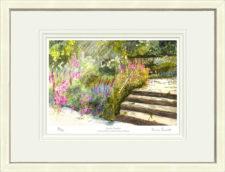 Sunlit Garden - White Framed Leaflet Pic