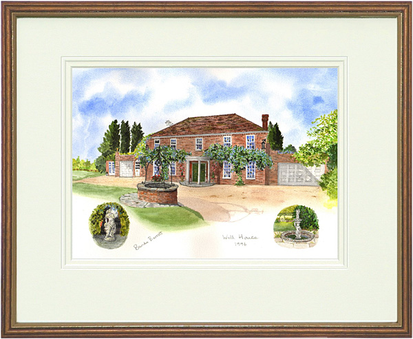 Well House, Uckfield - Wood & Gilt Framed Pic