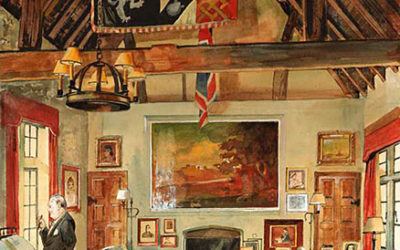 Sir Winston Churchill in his Study at Chartwell