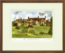 Stoke Brunswick Rear - Wood & Gilt Framed Pic