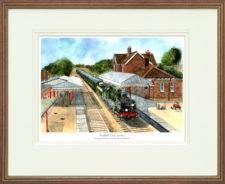 Sheffield Park Station - Wood Framed Leaflet Pic