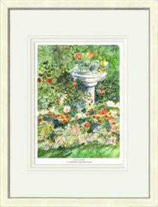 grannys-garden-white-framed